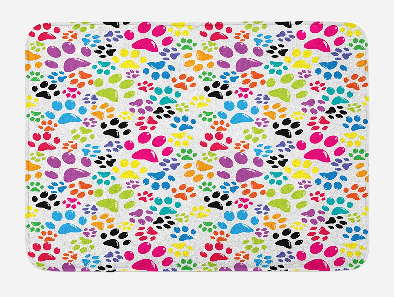 "Colorful Design Bath Mat Bathroom Decor Plush Non-Slip Mat 29.5/"" X 17.5/"""