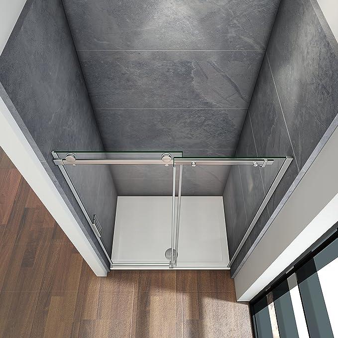 110x195cm Mamparas de ducha puerta de ducha 8mm vidrio templado de ...
