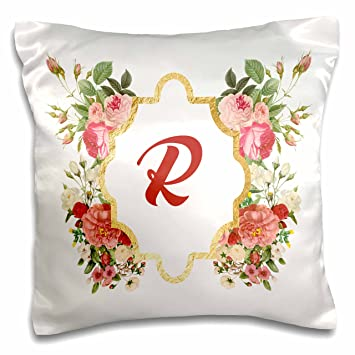 Amazon.com: 3D Rose Chic Monogram Letter R in a Gold Flowered Frame ...