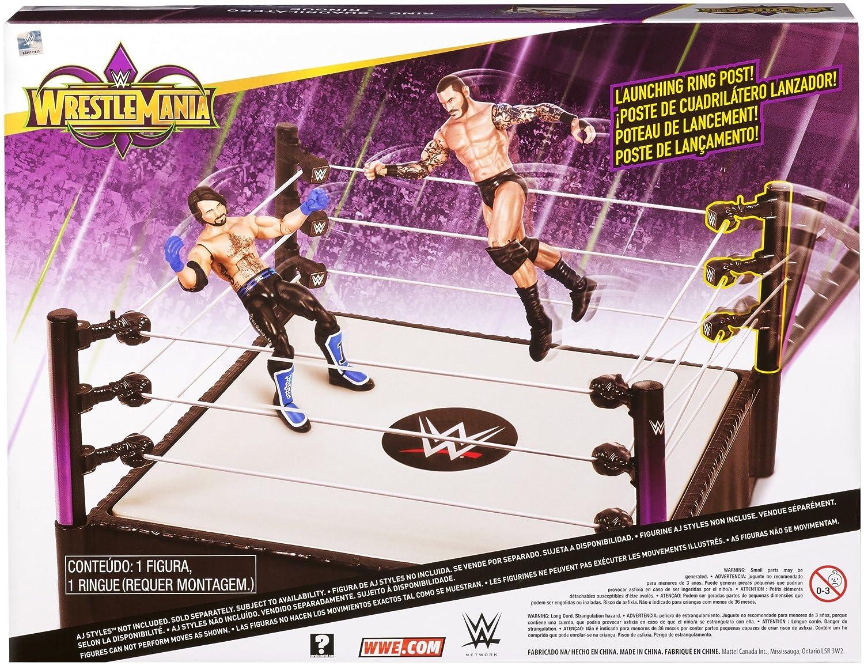 WWE FMH82 Wrestle Mania 14 Inch Ring with Randy Orton Figure Mattel 887961573985