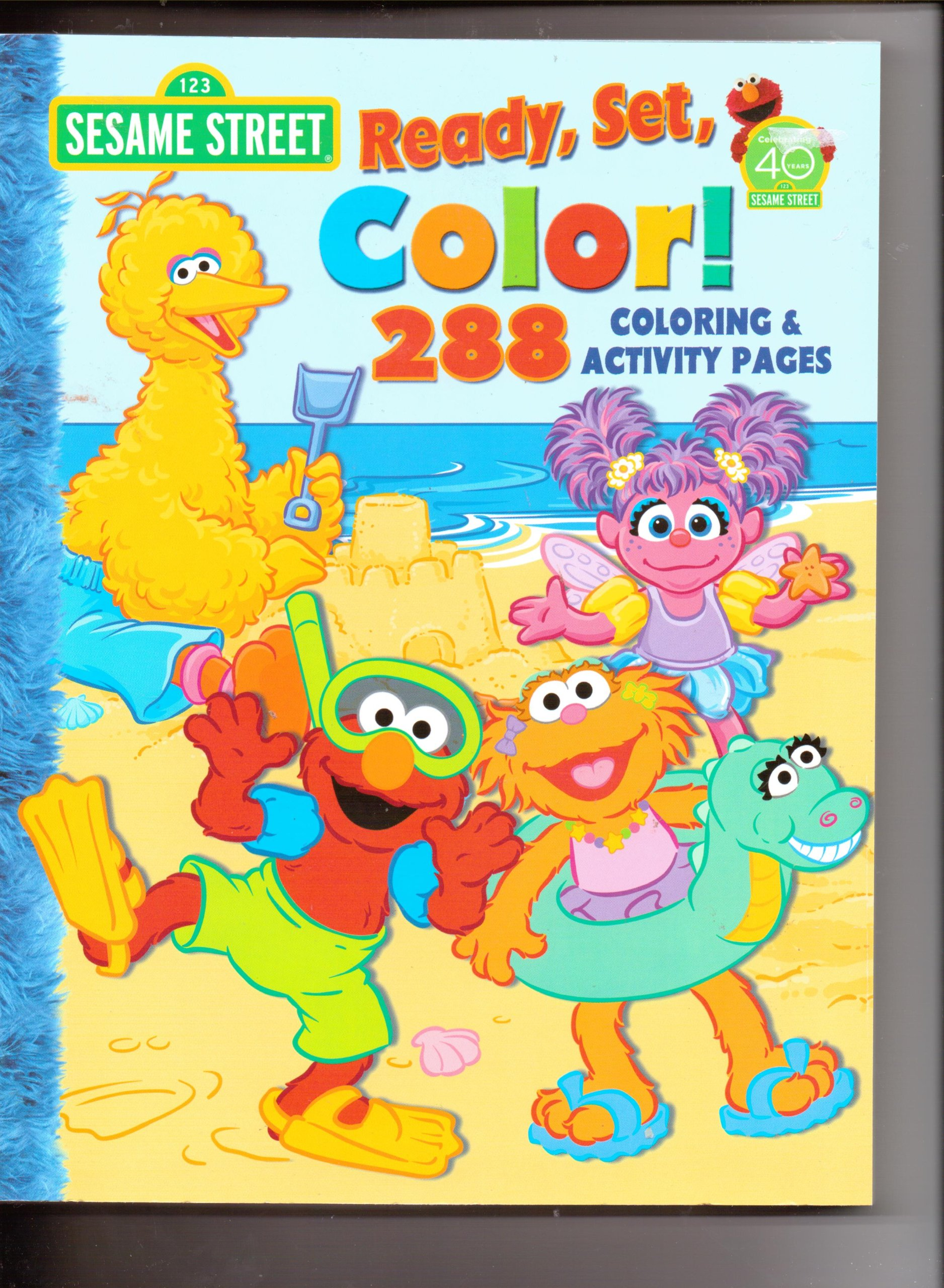 Sesame Street Ready, Set, Color! 288 coloring & Activity Pages ...