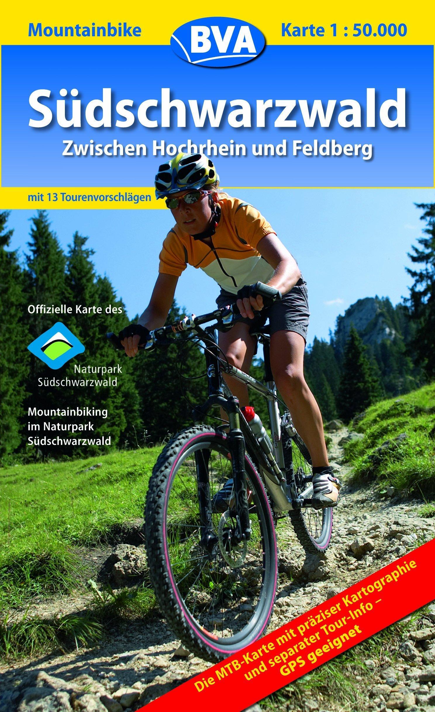 Südschwarzwald: Mountainbike-Karte Maßstab 1:50000