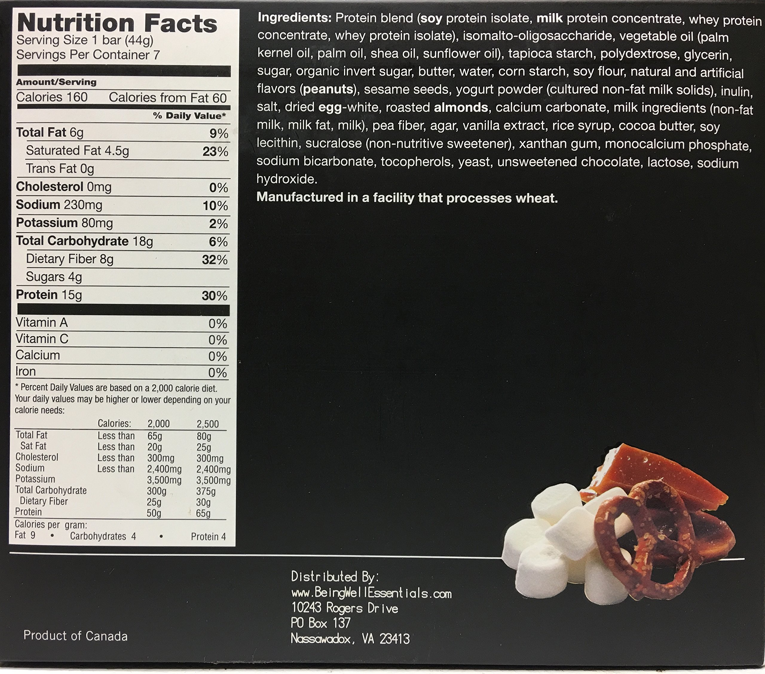 Proti Kind Bariatric Very Low Carb, Low Fat, Low Sugar - Bars Full Case of 84 bars - 12 boxes of 7 each bars - (Salted Toffee Pretzel) by Being Well Essentials (Image #2)