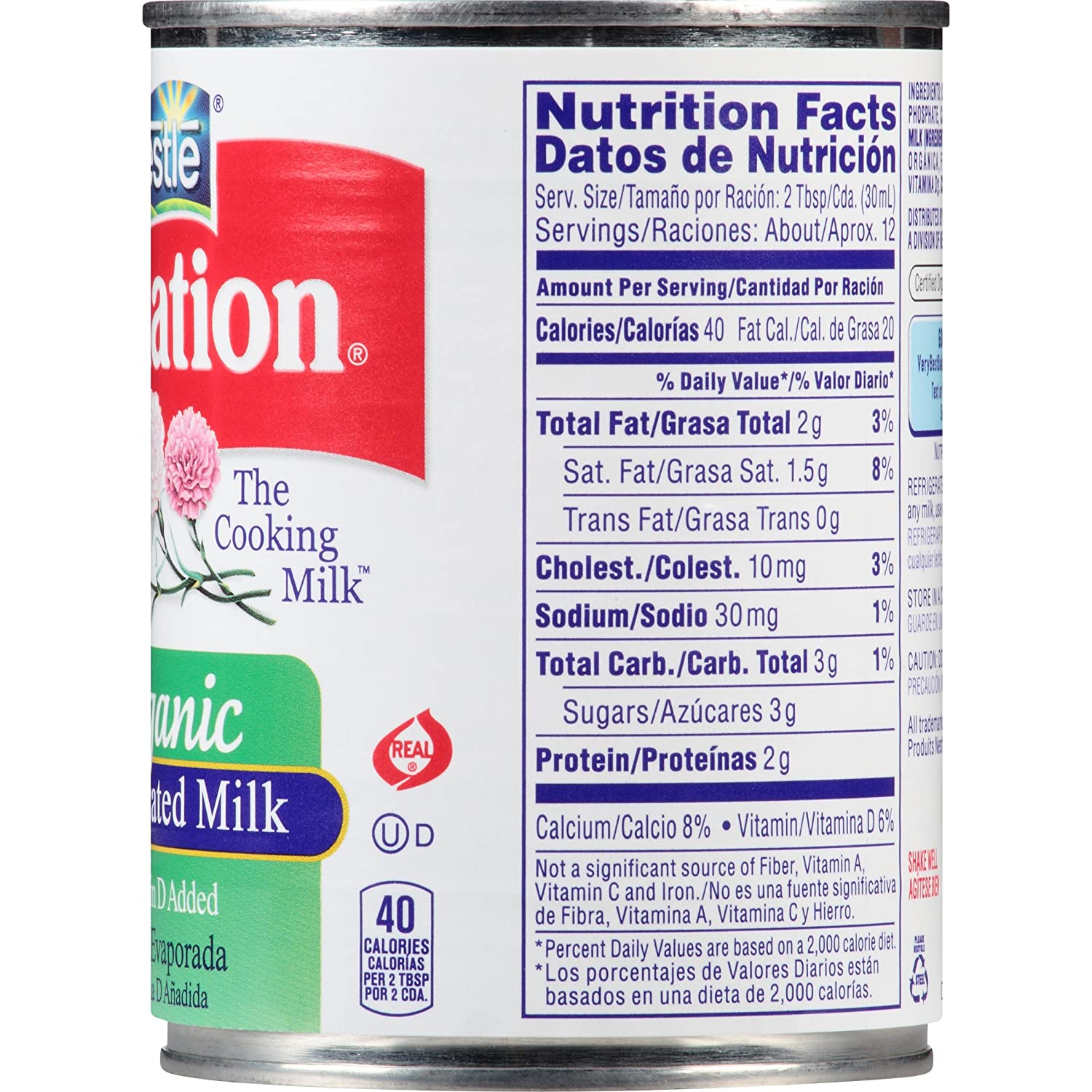Carnation Organic Evaporated Milk, 12 Fluid Ounce: Amazon.com: Grocery & Gourmet Food