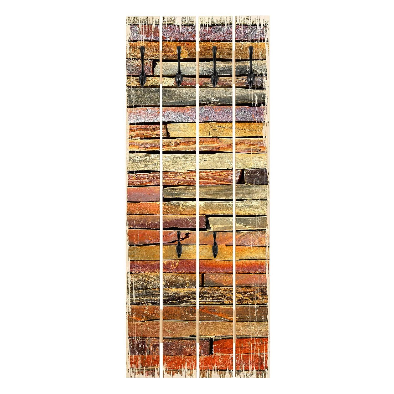 Bilderwelten Perchero de Madera - Stack of Planks - Ganchos ...