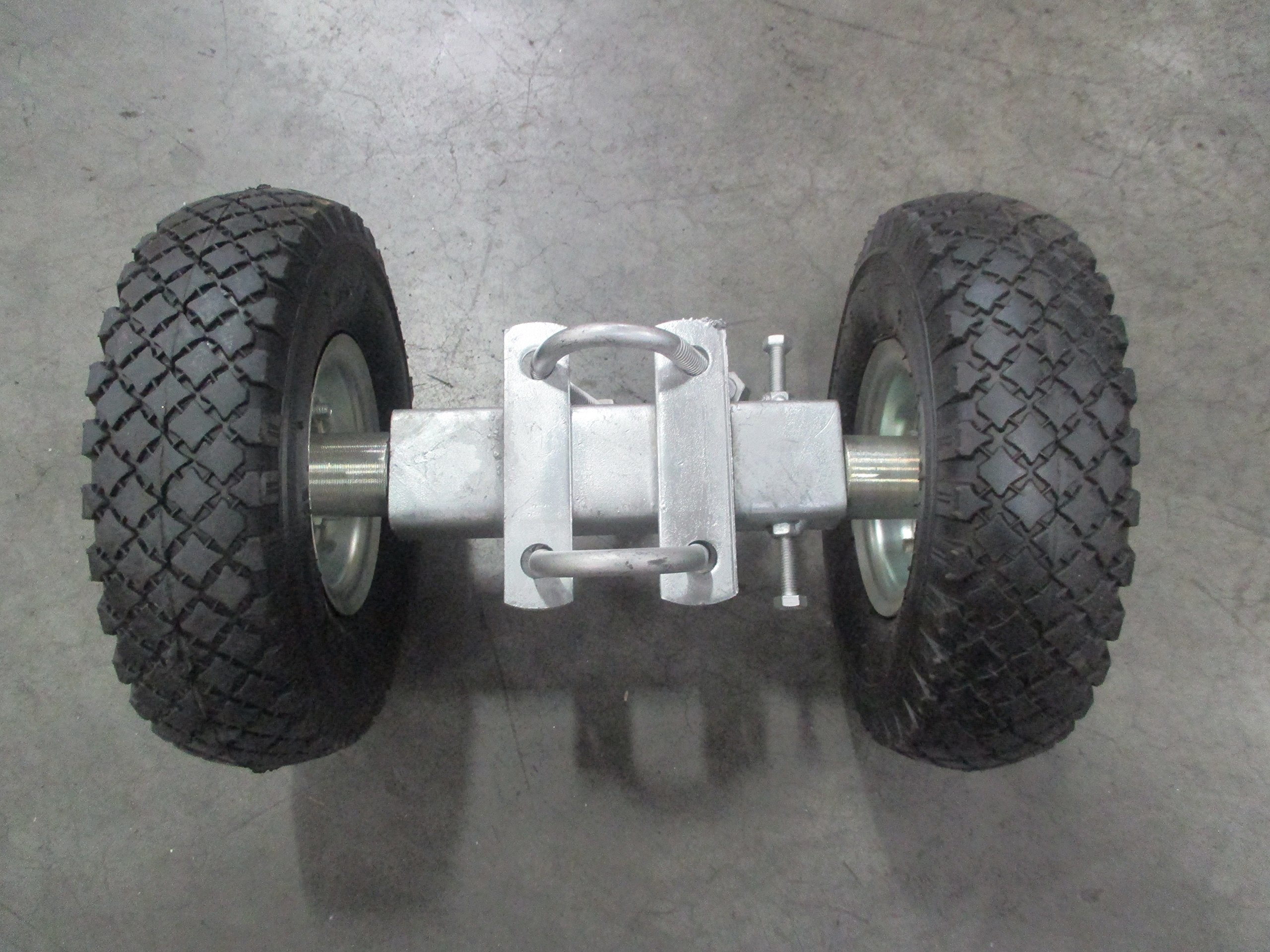 10'' Rolling Gate Carrier Wheels, Heavy Duty Pneumatic (air filled)