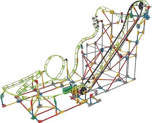 3 opinioni per K'Nex 55402- Double Doom Roller Coaster Set da Costruzione con Motore,