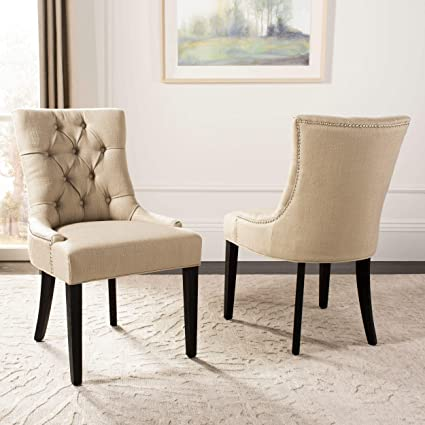 Amazon Com Safavieh Mercer Collection Heather Dining Chairs