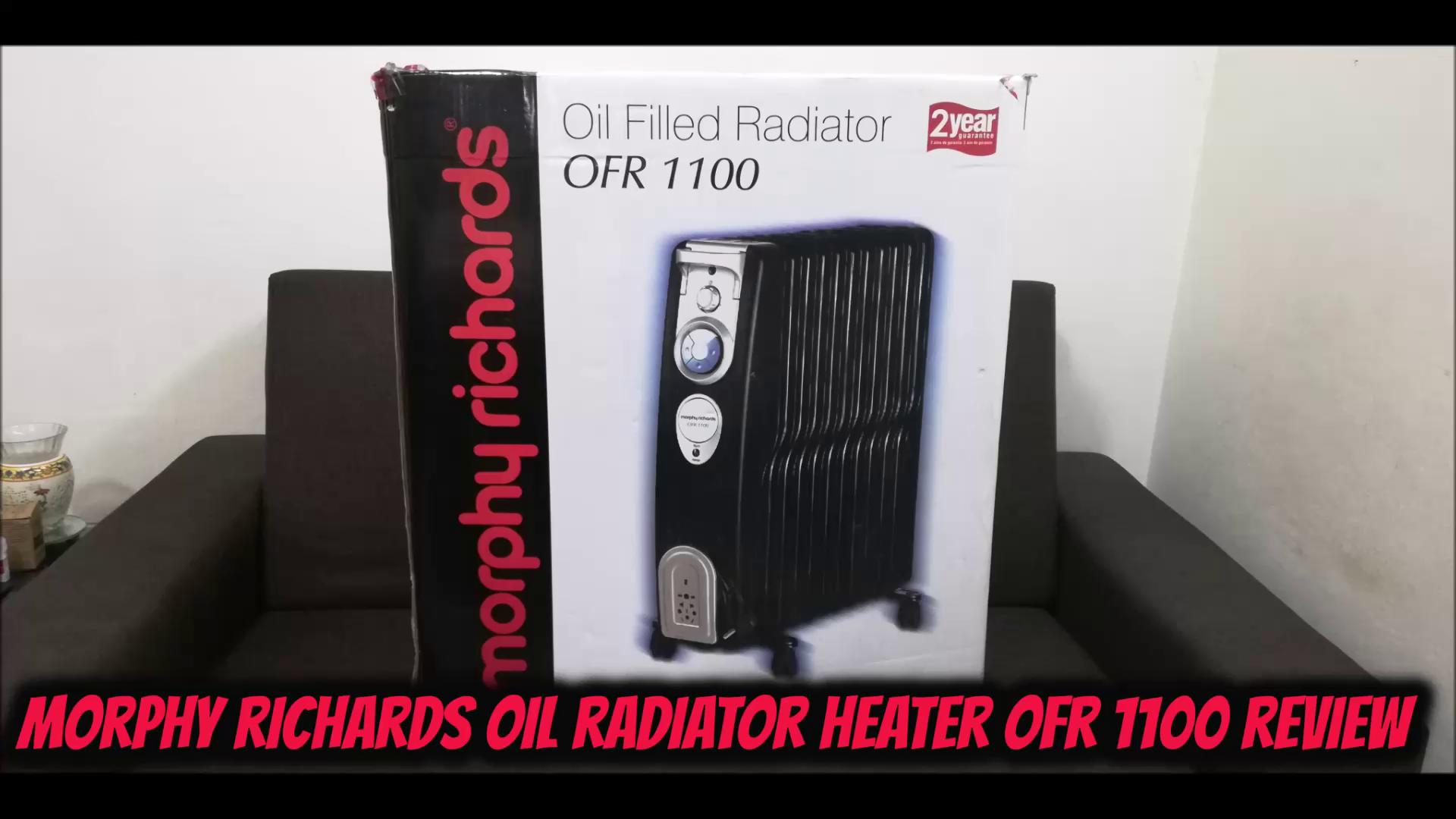 Buy Morphy Richards Ofr 1100 2500 Watt Oil Filled Radiator