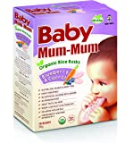 Baby Mum-Mum Blueberry and Carrot Flavour Organic Rice Rusks, 36 g