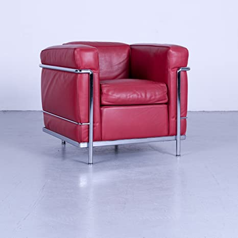 Cassina le Corbusier LC 2 Designer Poltrona in pelle rosso Monoposto ...