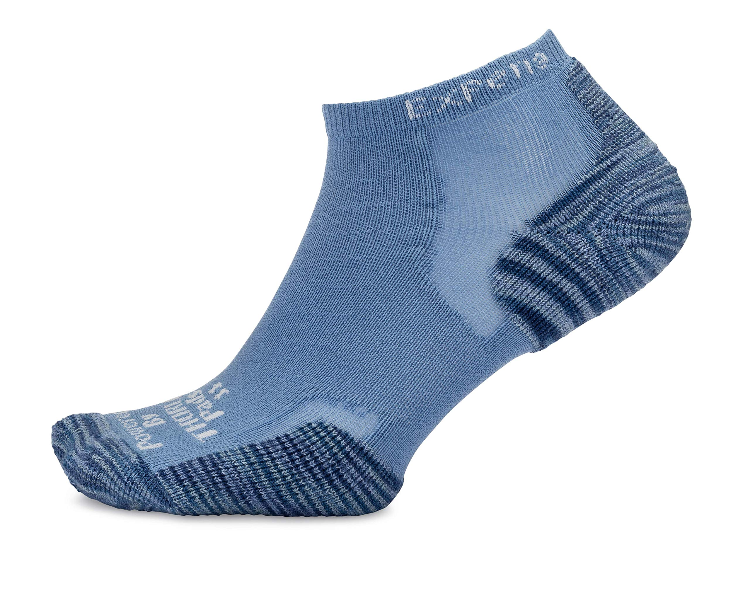 Thorlos Experia XCCU Thin Cushion Running Low Cut Sock, Tiger Paw Steel Blue, M by Thorlos Experia