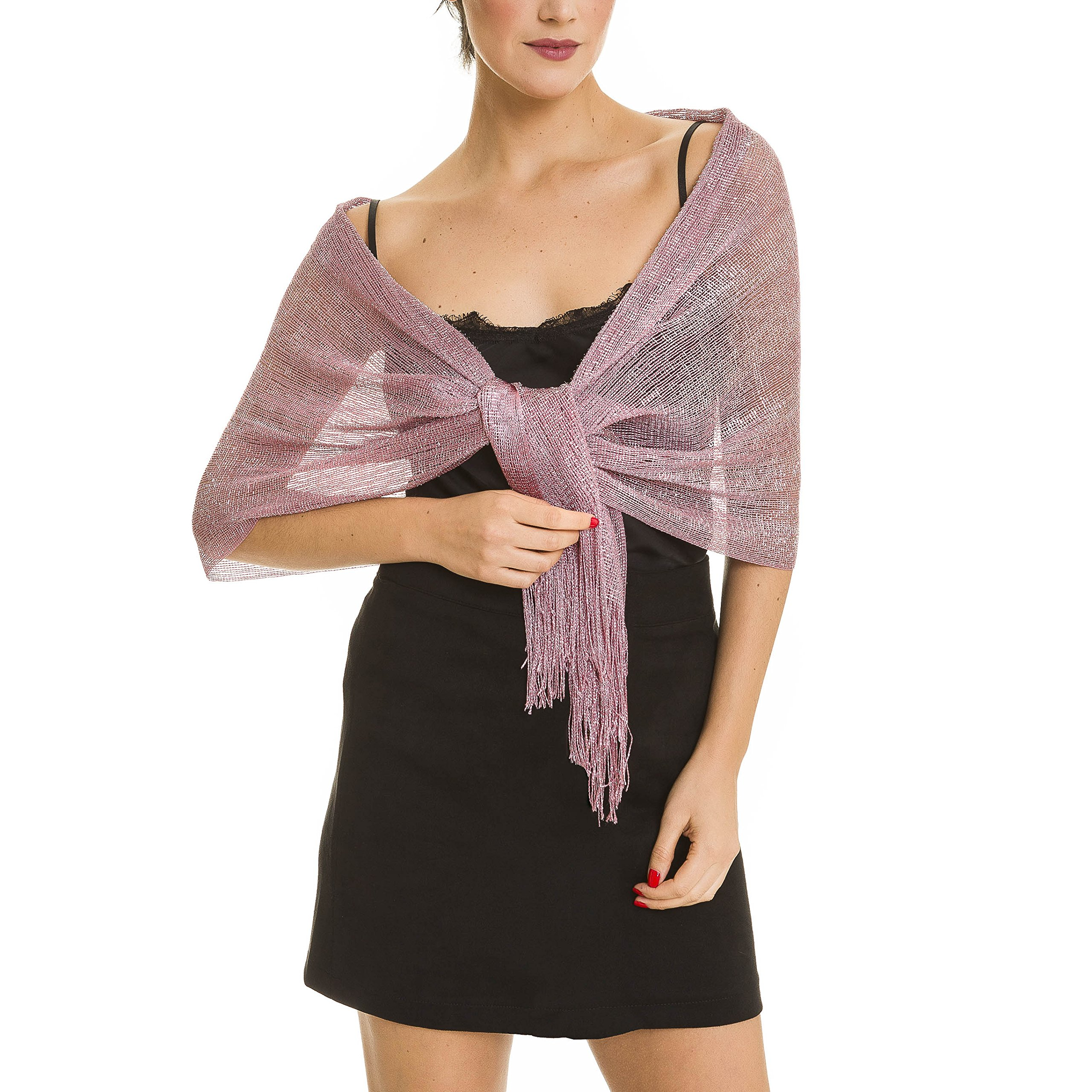 Shawl Wrap Fashion Scarf for Women Summer Fall: Evening Dresses, Wedding, Party, Bridal (Pink IV)