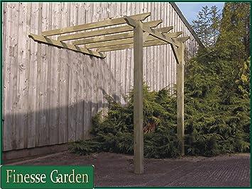 WINDSOR Lean To Timber Garden Pergola Kit Canopy 1.8m x 1.8 (6ft & WINDSOR Lean To Timber Garden Pergola Kit Canopy 1.8m x 1.8 (6ft ...