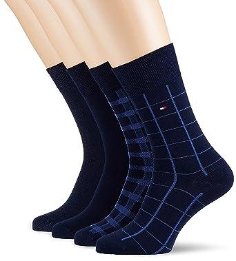 Tommy Hilfiger Herren Socken TH Men Cabin Box 4P, 4er Pack, Blau (Dark