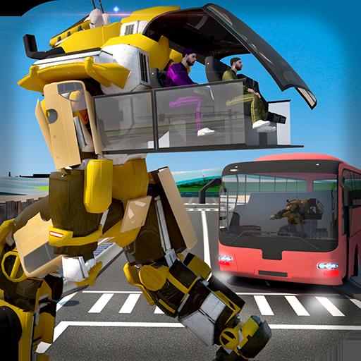 Game: Robot Bus Parking Transport 2018 (Transformer School Bus)