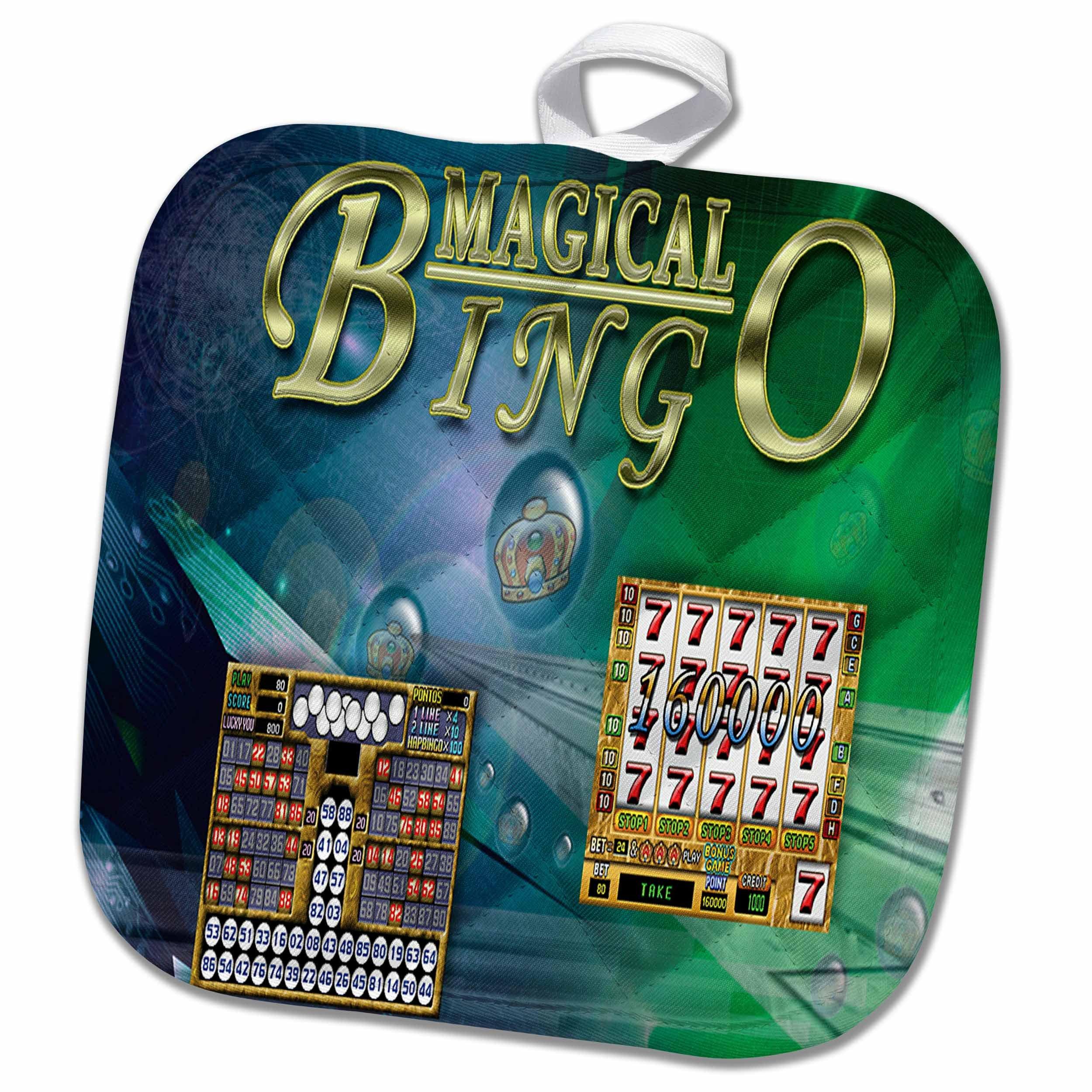 3dRose Games - Bingo Magical - 8x8 Potholder (phl_32882_1) by 3dRose