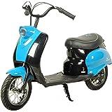 Rebo Retro Pocket Mod Electric 24v City Scooter Ride On - Blue
