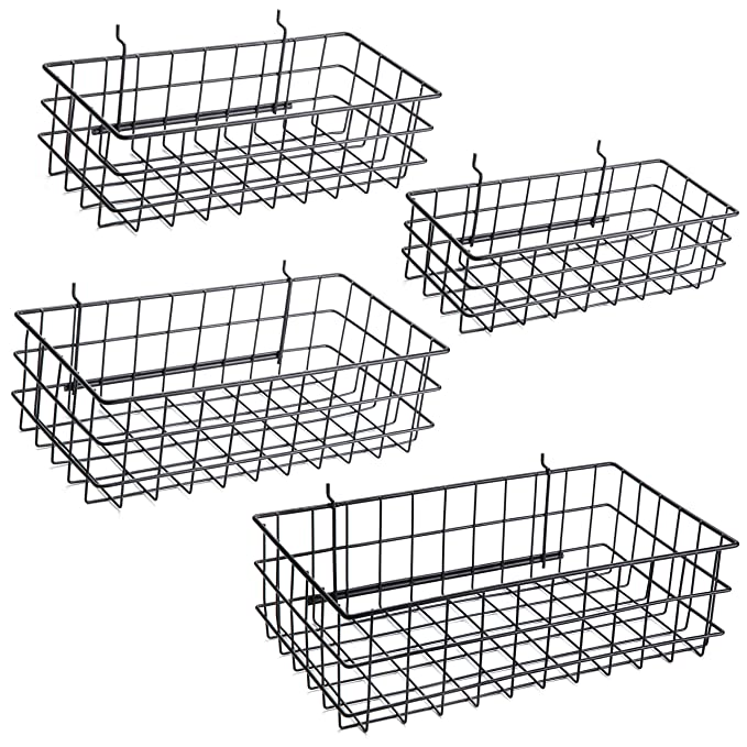 Pegboard Baskets Set Of 4 Black