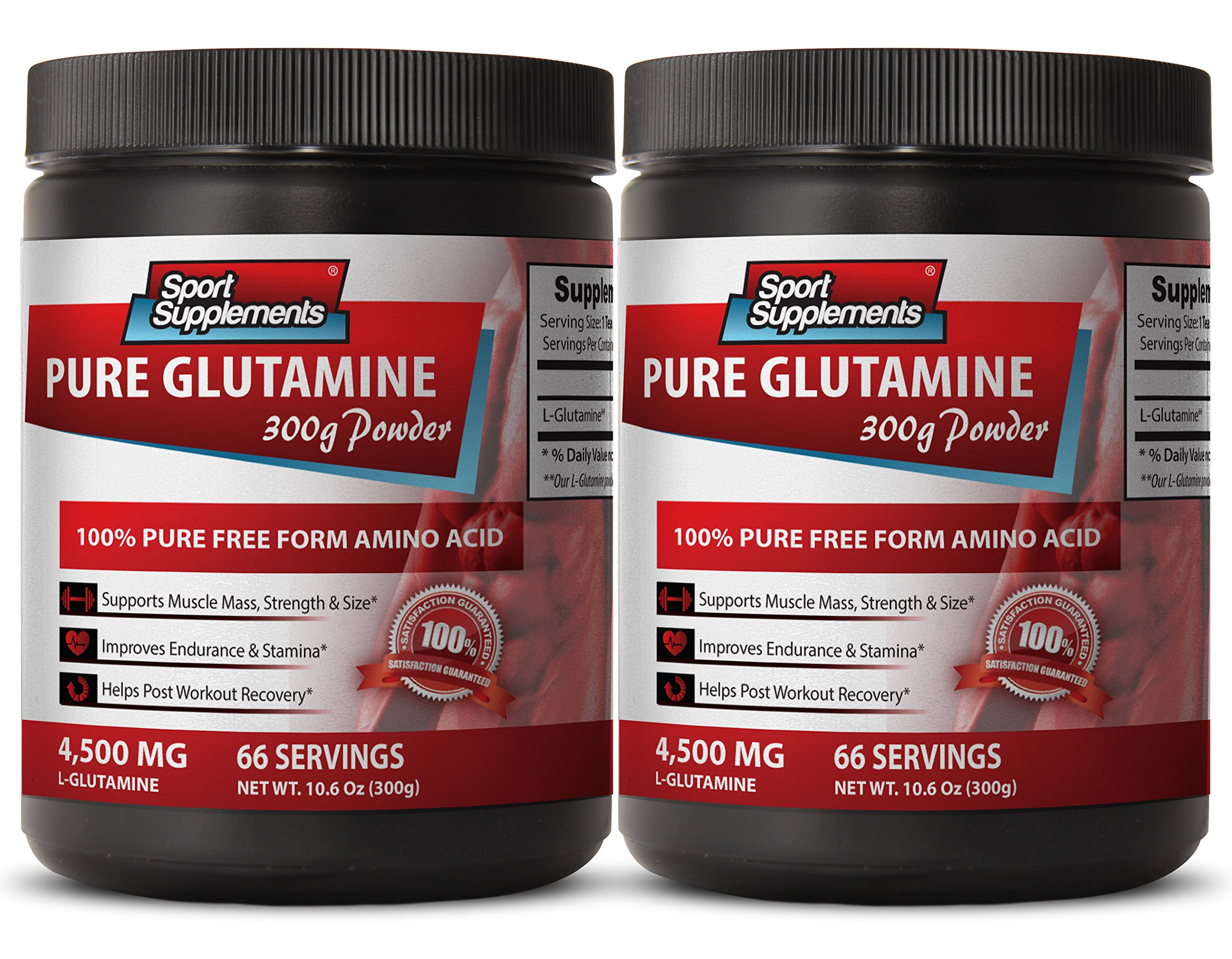 L-glutamine 5000mg - L Glutamine - Helps with memory (2 Bottles)