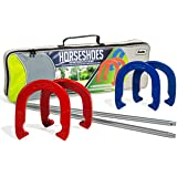 Franklin Sports Horseshoe Set - Steel Horseshoes and Stakes - Official Size and Weight - Perfect for Yard and Beach…
