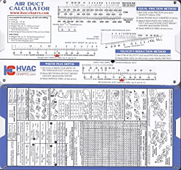 Duct sizing charts & tables | energy-models. Com.