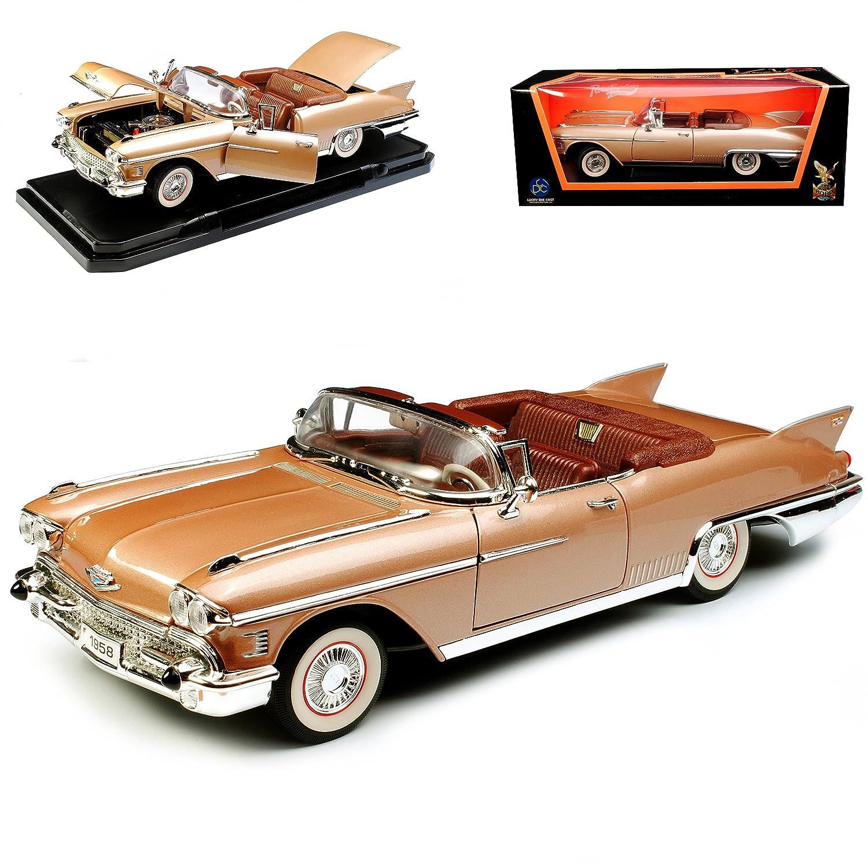 Alles-meine  GmbH Cadillac Eldorado Biarritz Biarritz Eldorado Gold Braun 1957-1958 1 18 Yatming Lucky Die Cast Modell Auto d3340d