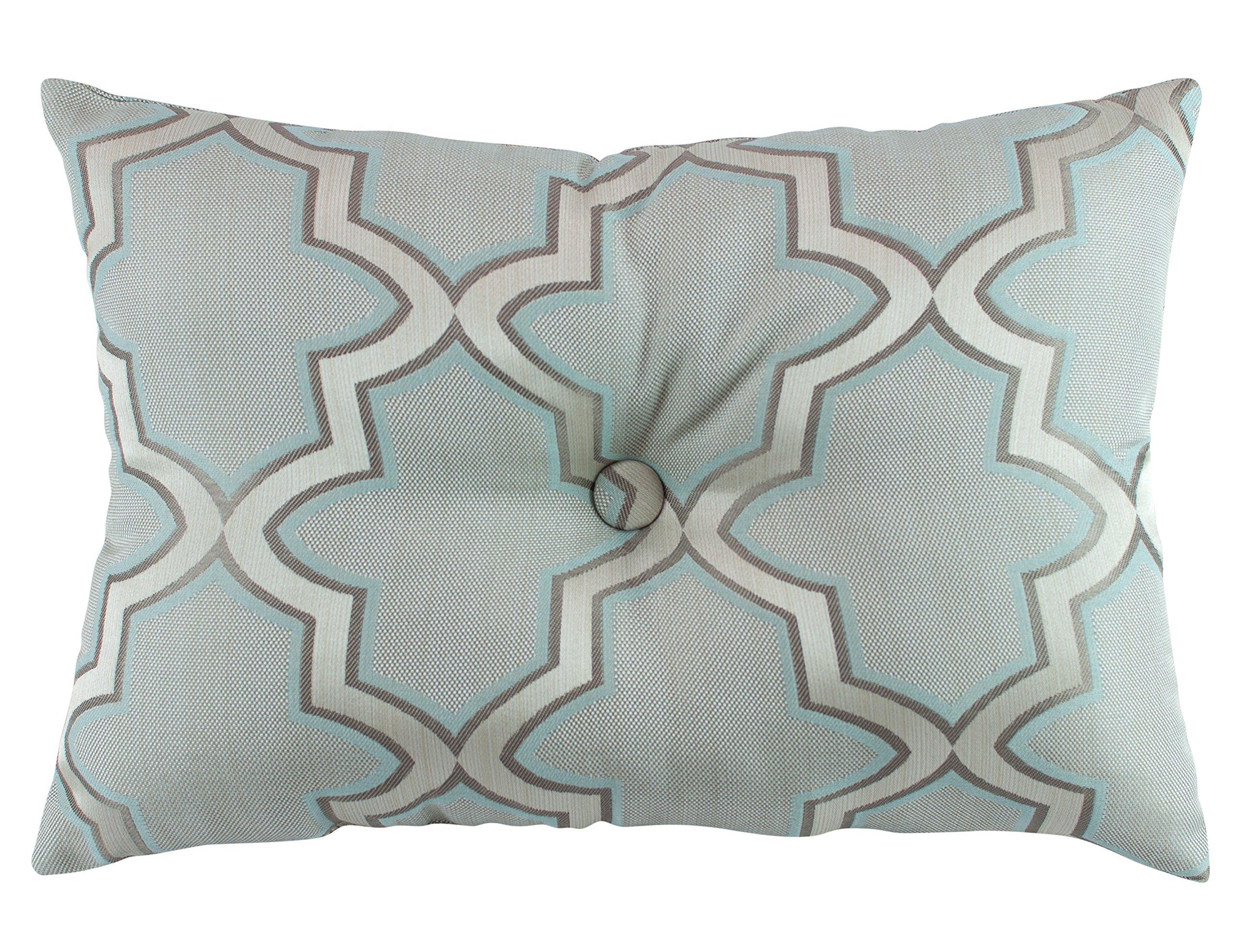 Austin Horn En' Vogue Glamour Boudoir Pillow, 14'' x 20'', Spa Blue