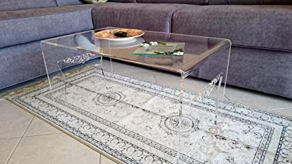 Astroplastic Tavolino Comodino Soggiorno Salotto In Plexiglass Pmma Trasparente Design Unico Particolare Misura Cm H36 X L68 X P40 Spessore 8mm Amazon It Casa E Cucina