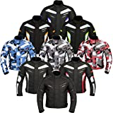 JKT-007 | Waterproof Motorbike Motorcycle Jacket in Cordura Fabric and CE Approved Armour - 6 Packs Design Most Popular (Available in Black Grey Blue Red and Green)