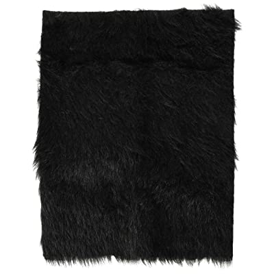 Darice Luxury Fur - Black - 12 x 15 inches: Arts, Crafts & Sewing