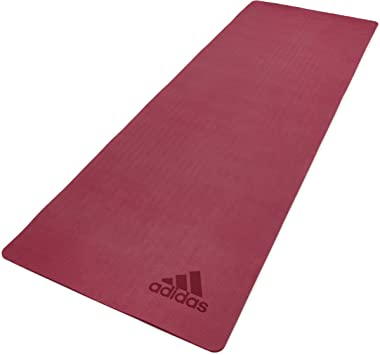 Amazon.com : adidas Premium Yoga Mat - Mystery Ruby, 5mm ...
