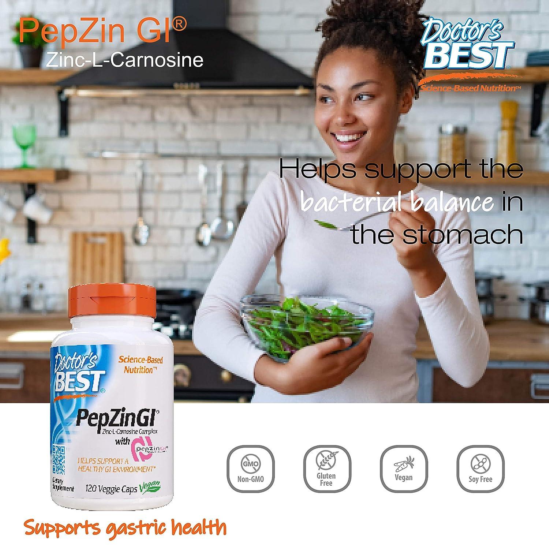 Amazon.com: Zinc Carnosina Complejo con pepzin GI, 120 ...