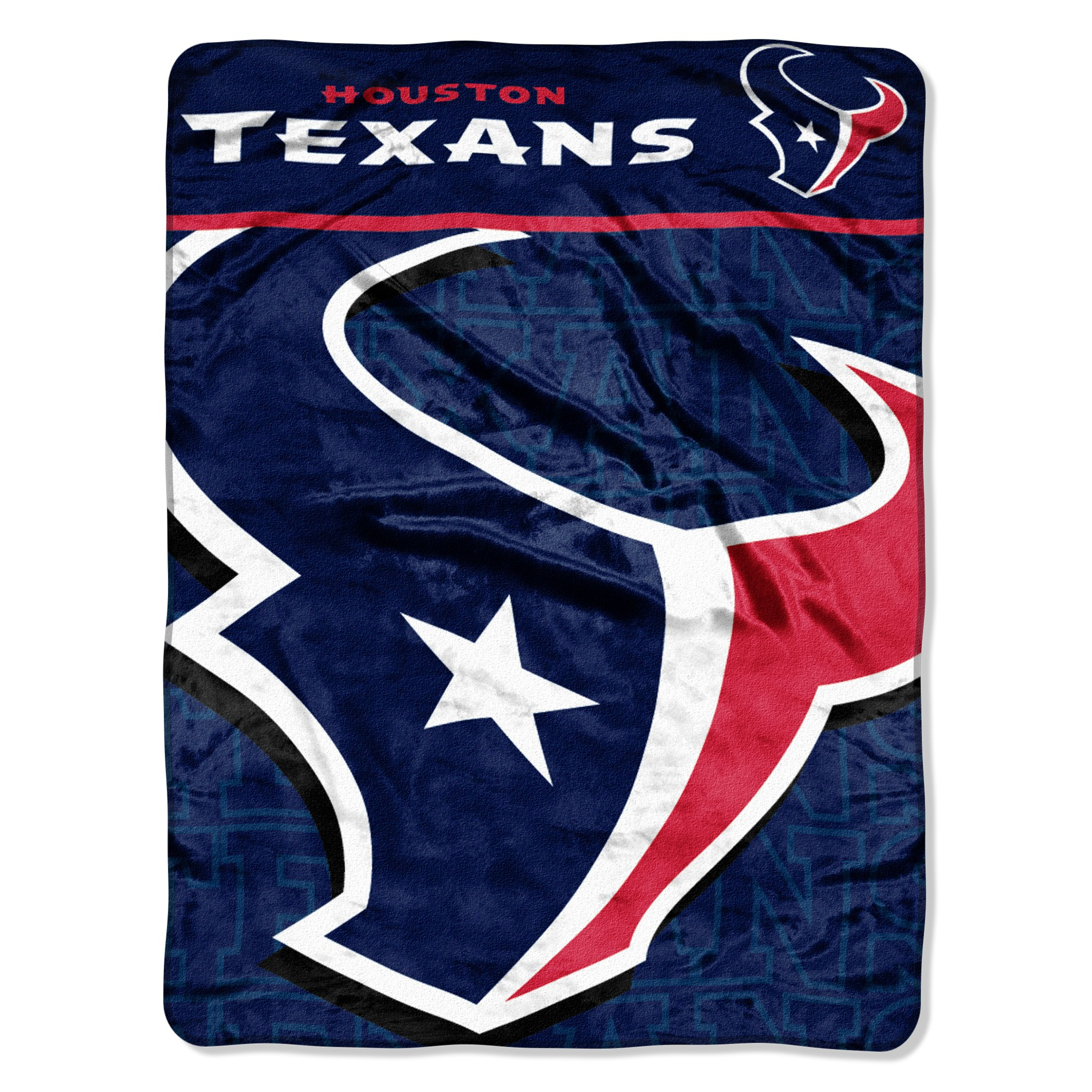 The Northwest Company Officially Licensed NFL Houston Texans Livin Large Micro Raschel Throw Blanket, 46'' x 60'', Multi Color by The Northwest Company