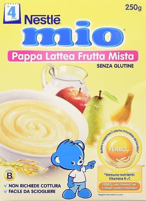 7 opinioni per Nestlé Mio Pappa Lattea Frutta Mista senza Glutine da 4 Mesi, 250g