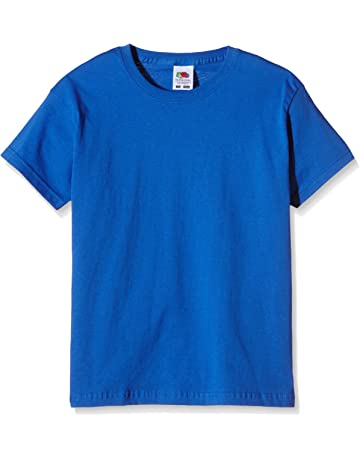 37e20a5b0aa Fruit of the Loom Unisex Kids Original T. T-Shirt, Royal, 12