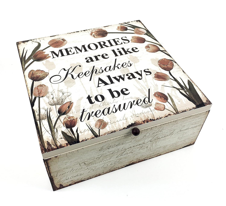 Tulip Memory Wooden Box Keepsake Chest Box Memories Tulip Design ukgiftstoreonline 606993147113