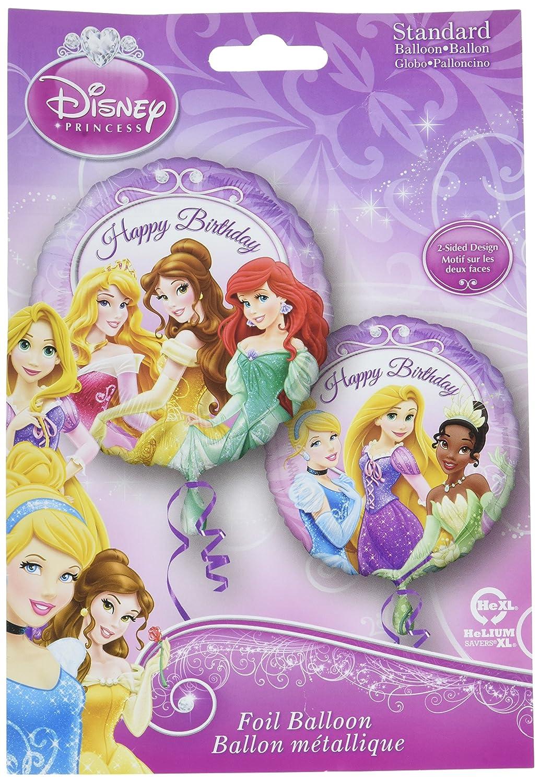 Princesas Disney doble cara feliz cumpleaños Foil Globo ...