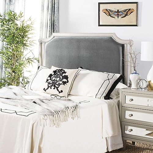 Deal of the week: Safavieh Home Hudson Traditional Grey Velvet Headboard