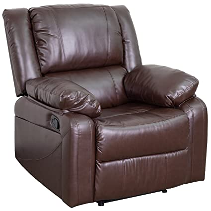Merveilleux Flash Furniture Harmony Series Brown Leather Recliner