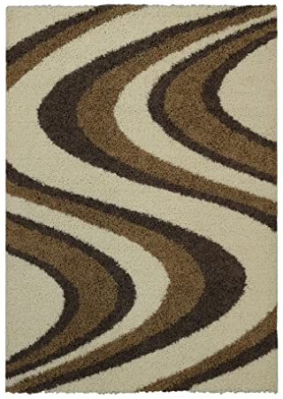 soft shag area rug 7x10 swirl striped ivory beige shaggy rug area rugs for