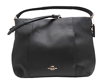 91d011590a15 Image Unavailable. Image not available for. Color  Coach F35809 pebble  leather east west Isabelle shoulder handbag ...