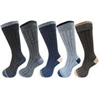 RC. ROYAL CLASS Men's Woolen Warm Winter Socks (Multicolour, Free Size) - Pack of 5 Pairs