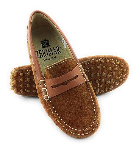 Zerimar Mocasines Para Mujer Estilo Casual Piel Cómodos y Flexibles Color Camel Talla 41: Amazon.es: Zapatos y complementos