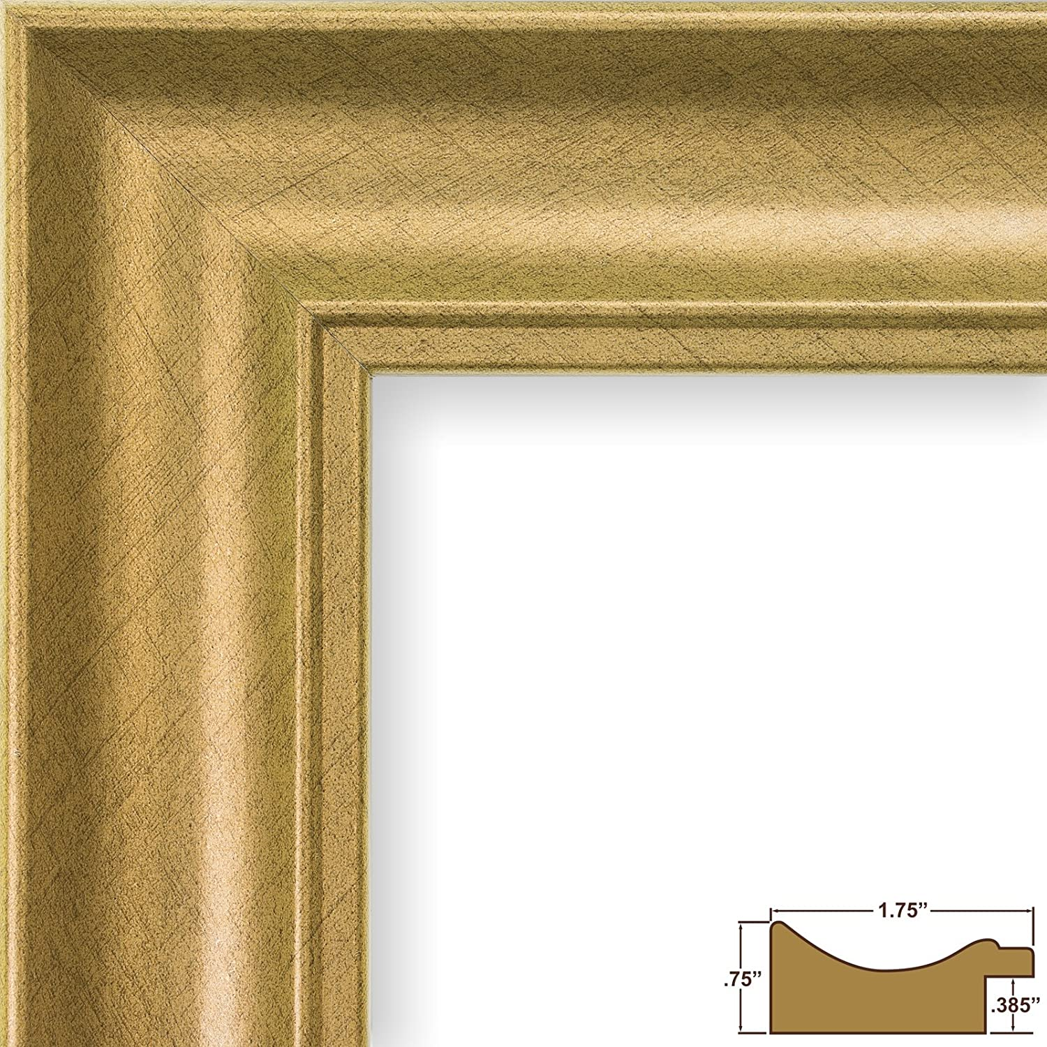 Amazon.com - Craig Frames Vintage Revival, Brushed Gold Picture ...