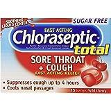 Chloraseptic Total Sugar Free Multi-Symptom Lozenges, Cherry, 15 Count