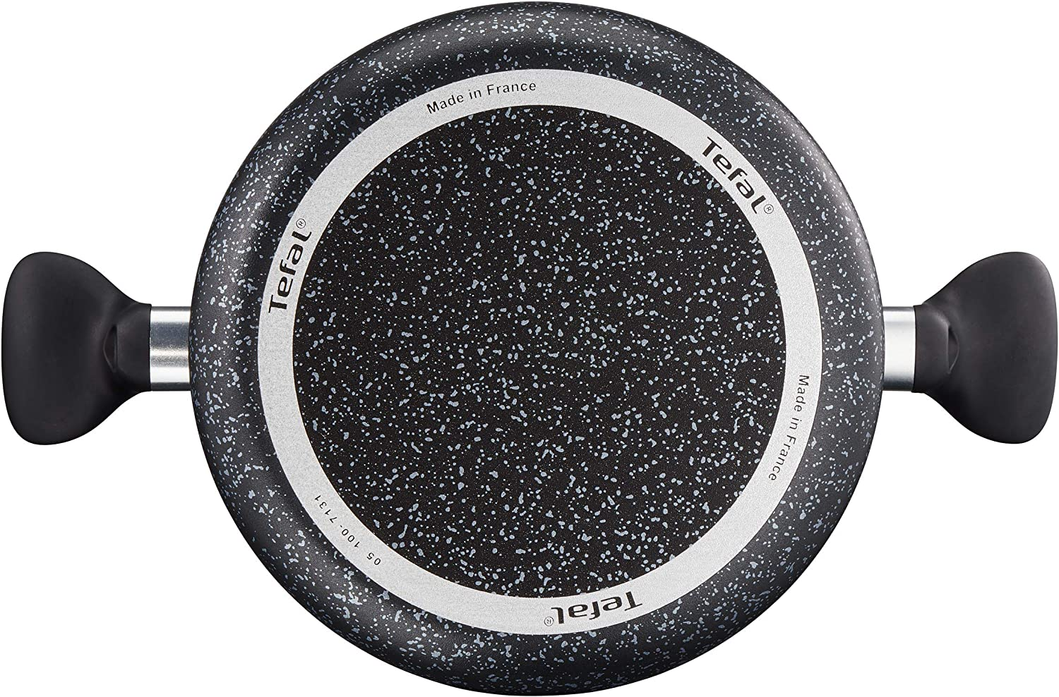 Aluminium Tefal Origins Speckled Frying Pan for All Heat Sources Including Induction Black 16 cm