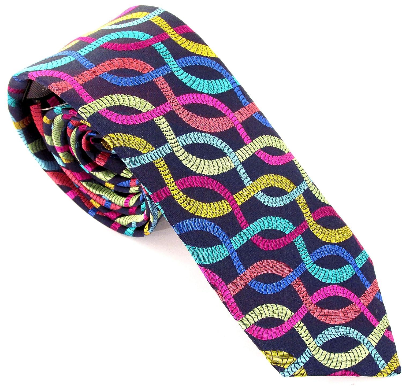 Van Buck - Corbata de seda con cuerda multicolor: Amazon.es: Ropa ...