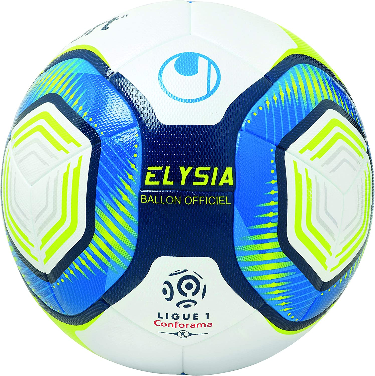 uhlsport Elysia Ballon OFFICIEL, Unisex Adulto, Blanc/Metallic ...