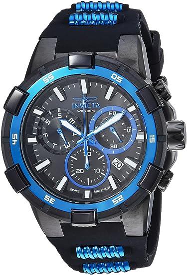 Invicta 25859 - Reloj de Pulsera Hombre, Silicona, Color Negro
